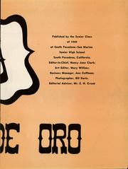 Page 7, 1949 Edition, South Pasadena High School - Copa de Oro Yearbook (South Pasadena, CA) online yearbook collection