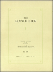 Page 5, 1928 Edition, Venice High School - Gondolier Yearbook (Venice, CA) online yearbook collection