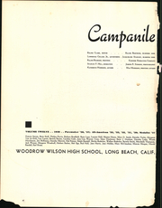 Page 6, 1938 Edition, Woodrow Wilson High School - Campanile Yearbook (Long Beach, CA) online yearbook collection