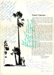Page 10, 1961 Edition, Woodrow Wilson High School - Campanile Yearbook (Long Beach, CA) online yearbook collection