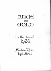 Page 2, 1926 Edition, Anaheim Union High School - Colonist Yearbook (Anaheim, CA) online yearbook collection