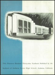 Page 6, 1939 Edition, Anaheim Union High School - Colonist Yearbook (Anaheim, CA) online yearbook collection