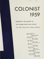 Page 7, 1959 Edition, Anaheim Union High School - Colonist Yearbook (Anaheim, CA) online yearbook collection