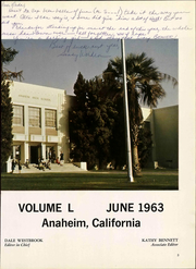 Page 9, 1963 Edition, Anaheim Union High School - Colonist Yearbook (Anaheim, CA) online yearbook collection