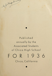 Page 7, 1936 Edition, Chico High School - Caduceus Yearbook (Chico, CA) online yearbook collection