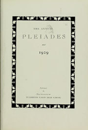 Page 7, 1929 Edition, Fullerton Union High School - Pleiades Yearbook (Fullerton, CA) online yearbook collection