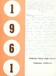 Page 7, 1961 Edition, Fullerton Union High School - Pleiades Yearbook (Fullerton, CA) online yearbook collection