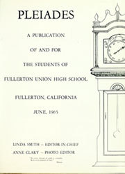 Page 5, 1965 Edition, Fullerton Union High School - Pleiades Yearbook (Fullerton, CA) online yearbook collection