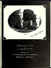 Page 5, 1978 Edition, University of North Alabama - Diorama Yearbook (Florence, AL) online yearbook collection