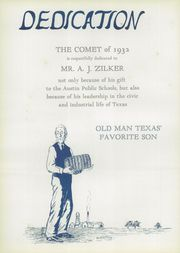 Page 10, 1932 Edition, Austin High School - Comet Yearbook (Austin, TX) online yearbook collection