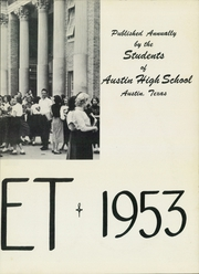 Page 7, 1953 Edition, Austin High School - Comet Yearbook (Austin, TX) online yearbook collection