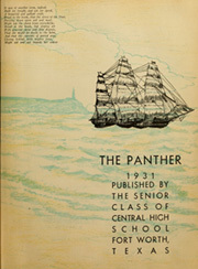 Page 7, 1931 Edition, Central High School - Panther Yearbook (Fort Worth, TX) online yearbook collection