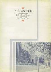 Page 7, 1933 Edition, Central High School - Panther Yearbook (Fort Worth, TX) online yearbook collection