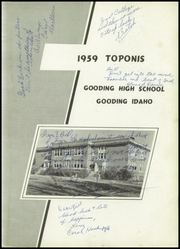 Page 5, 1959 Edition, Gooding High School - Toponis Yearbook (Gooding, IN) online yearbook collection