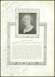 Page 15, 1935 Edition, Mount St Joseph Academy - Sheaf Yearbook (Philadelphia, PA) online yearbook collection