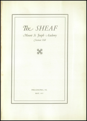 Page 7, 1935 Edition, Mount St Joseph Academy - Sheaf Yearbook (Philadelphia, PA) online yearbook collection