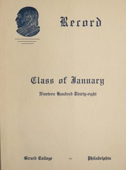 Girard College - Corinthian Yearbook (Philadelphia, PA) online yearbook collection, 1938 Edition, Page 1