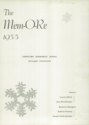 Page 3, 1955 Edition, Johnstown Mennonite School - Mem O Re Yearbook (Johnstown, PA) online yearbook collection