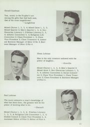 Page 13, 1957 Edition, Johnstown Mennonite School - Mem O Re Yearbook (Johnstown, PA) online yearbook collection