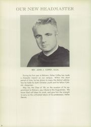Page 10, 1958 Edition, Malvern Preparatory School - Malvernian Yearbook (Malvern, PA) online yearbook collection