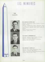 Page 10, 1940 Edition, Manchester High School - Les Memoires Yearbook (Manchester, PA) online yearbook collection