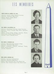 Page 11, 1940 Edition, Manchester High School - Les Memoires Yearbook (Manchester, PA) online yearbook collection