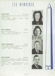 Page 15, 1940 Edition, Manchester High School - Les Memoires Yearbook (Manchester, PA) online yearbook collection