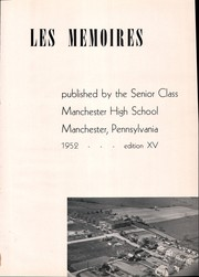 Page 5, 1952 Edition, Manchester High School - Les Memoires Yearbook (Manchester, PA) online yearbook collection