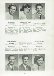 Page 67, 1954 Edition, Manchester High School - Les Memoires Yearbook (Manchester, PA) online yearbook collection