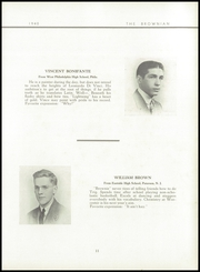 Page 15, 1940 Edition, Brown Preparatory School - Brownian Yearbook (Philadelphia, PA) online yearbook collection