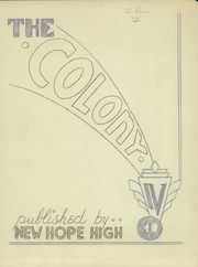 Page 3, 1940 Edition, New Hope High School - Colony Yearbook (New Hope, PA) online yearbook collection