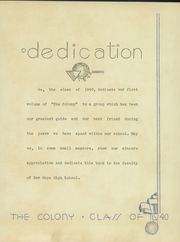 Page 7, 1940 Edition, New Hope High School - Colony Yearbook (New Hope, PA) online yearbook collection