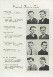 Page 15, 1953 Edition, Franconia Mennonite School - Laureate Yearbook (Souderton, PA) online yearbook collection