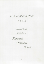 Page 7, 1953 Edition, Franconia Mennonite School - Laureate Yearbook (Souderton, PA) online yearbook collection
