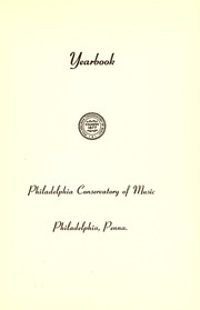 Page 7, 1947 Edition, Philadelphia Conservatory of Music - Variations Yearbook (Philadelphia, PA) online yearbook collection
