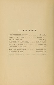 Page 14, 1931 Edition, Medical College Hospital School of Nursing - Cap and Candle Yearbook (Philadelphia, PA) online yearbook collection