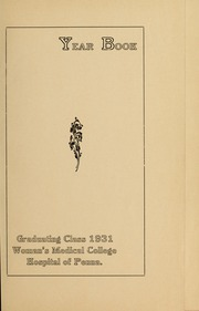Page 5, 1931 Edition, Medical College Hospital School of Nursing - Cap and Candle Yearbook (Philadelphia, PA) online yearbook collection