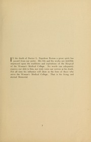 Page 9, 1931 Edition, Medical College Hospital School of Nursing - Cap and Candle Yearbook (Philadelphia, PA) online yearbook collection