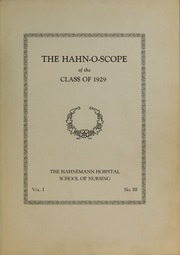 Page 5, 1929 Edition, Hahnemann Hospital School of Nursing - Hahnoscope Yearbook (Philadelphia, PA) online yearbook collection