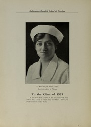 Page 12, 1933 Edition, Hahnemann Hospital School of Nursing - Hahnoscope Yearbook (Philadelphia, PA) online yearbook collection