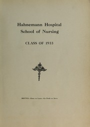 Page 5, 1933 Edition, Hahnemann Hospital School of Nursing - Hahnoscope Yearbook (Philadelphia, PA) online yearbook collection