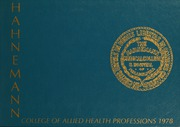 1978 Edition, Hahnemann University School of Allied Health - Horizons Yearbook (Philadelphia, PA)