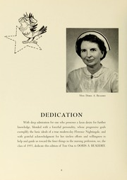 Page 10, 1955 Edition, Williamsport Hospital School of Nursing - Oak Yearbook (Williamsport, PA) online yearbook collection