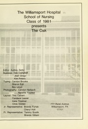 Page 5, 1981 Edition, Williamsport Hospital School of Nursing - Oak Yearbook (Williamsport, PA) online yearbook collection