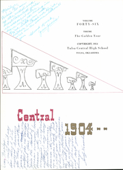 Page 8, 1954 Edition, Central High School - Tom Tom Yearbook (Tulsa, OK) online yearbook collection