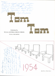 Page 9, 1954 Edition, Central High School - Tom Tom Yearbook (Tulsa, OK) online yearbook collection