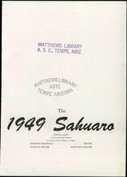 Page 9, 1949 Edition, Arizona State University - Sun Devil Spark Sahuaro Yearbook (Tempe, AZ) online yearbook collection
