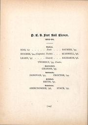 Page 132, 1894 Edition, Phillips Exeter Academy - PEAN Yearbook (Exeter, NH) online yearbook collection