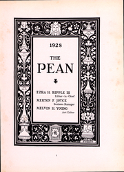 Page 3, 1928 Edition, Phillips Exeter Academy - PEAN Yearbook (Exeter, NH) online yearbook collection