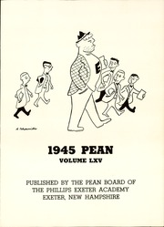 Page 7, 1945 Edition, Phillips Exeter Academy - PEAN Yearbook (Exeter, NH) online yearbook collection